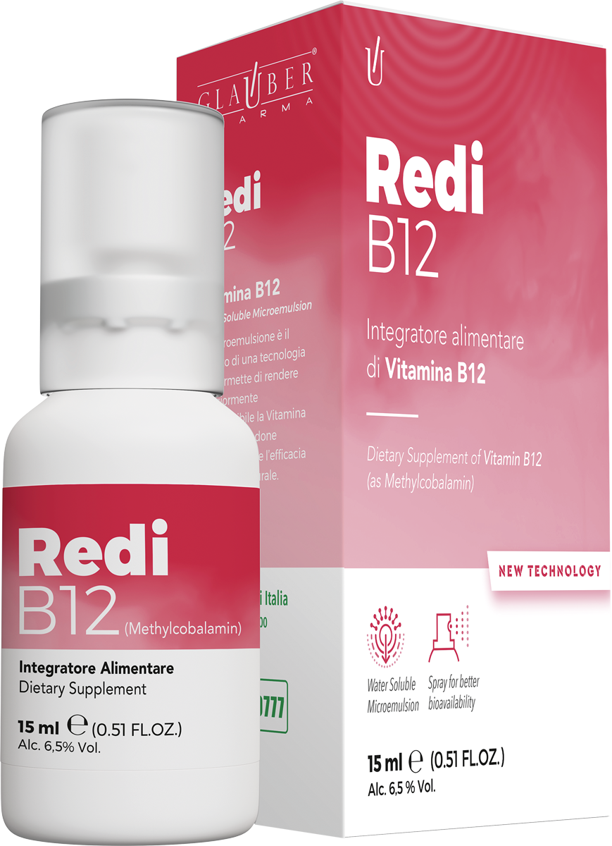 Redi B12 Forza Vitale 15 ml Glauber Pharma Liponanoemulsione Novità