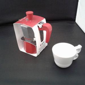 GIANNINI CAFFETTIERA NINA IN ALLUMINIO DA 1 TAZZA SERBATOIO ROSSO RO6481