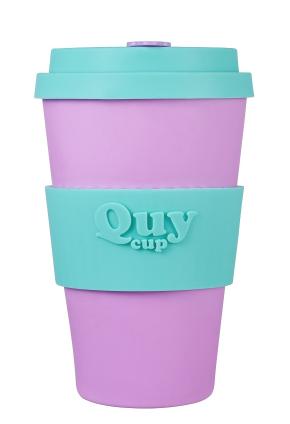 QUY cup MUG CON COPERCHIO GIORGIA DIMENSIONI CM. 8,5 x 7 x 14 ALTEZZA BAMB40-049