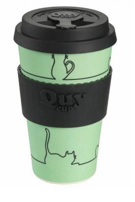 QUY cup MUG CON COPERCHIO SKAY CAT DIMENSIONI CM. 8,5 x 7 x 14 ALTEZZA BAMB40-004
