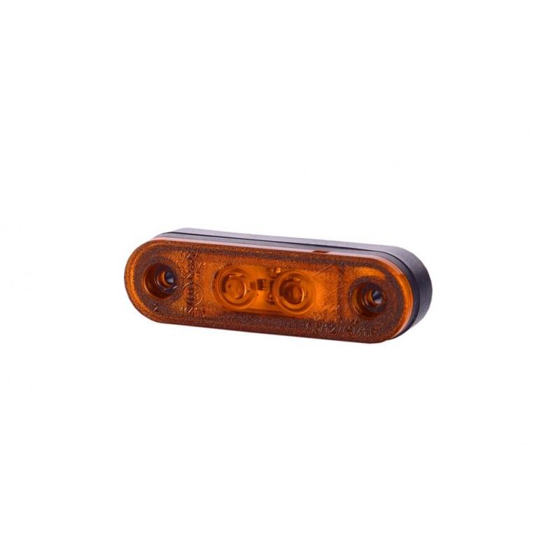 Luce ingombro 2 led incasso con guarnizione arancio