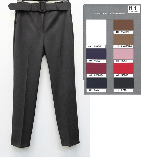 Pantalone uomo con tasche e cintura in vita