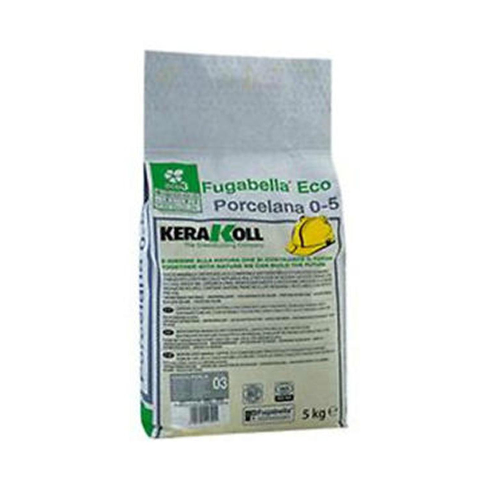 Kerakoll fugabella eco porcelana 0-5 fuga stucco per piastrelle colore tortora kg 5