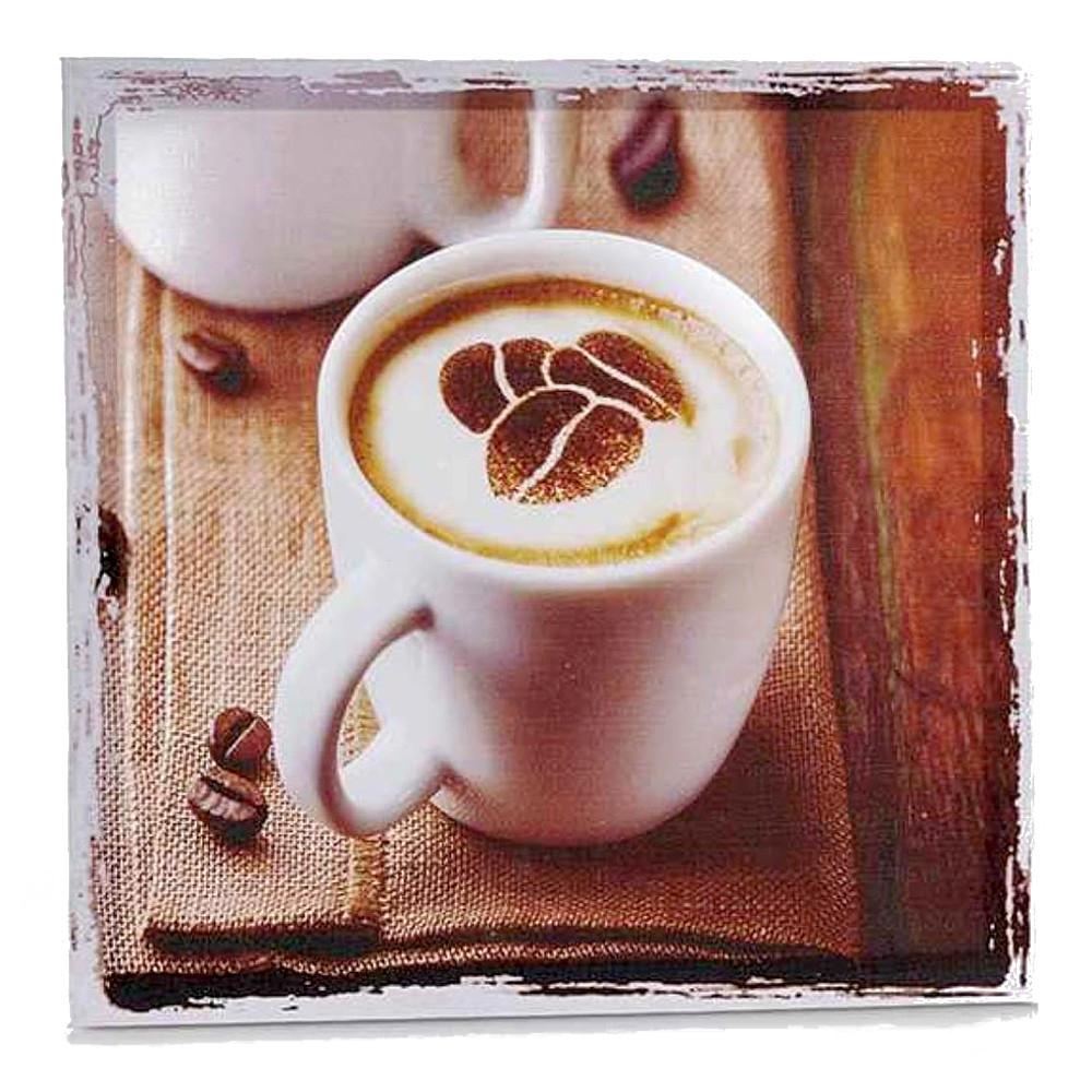 Quadro Breakfast Coffee su telaio in legno da appendere