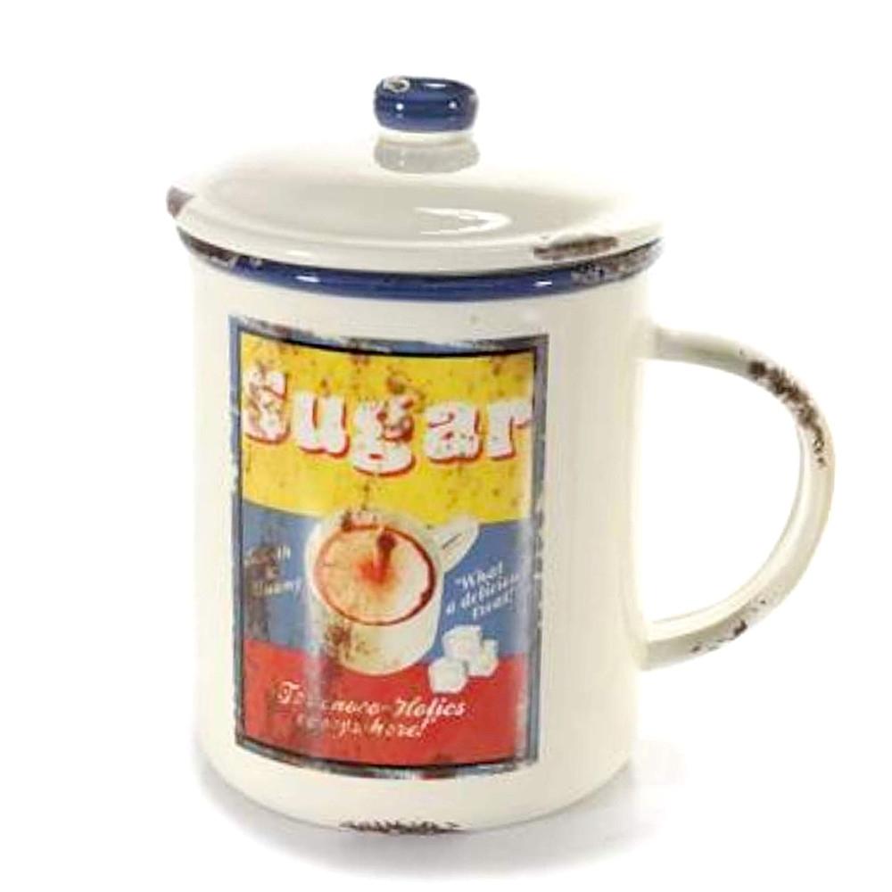 Barattolo Sugar con coperchio ermetico e manico in ceramica