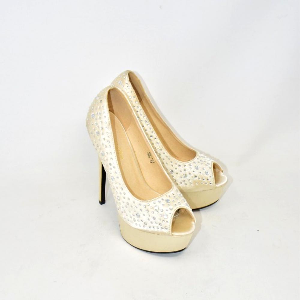 Scarpe Tacco Beautiful Shoes Brillanti N 37
