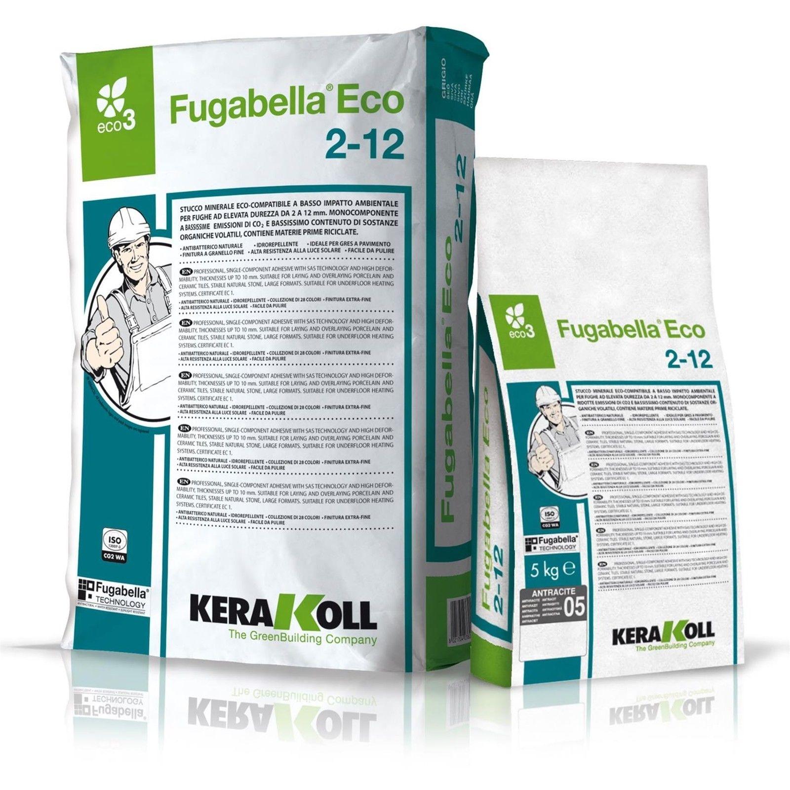 Kerakoll fugabella eco 2-12 stucco fuga per piastrelle colore bianco kg5