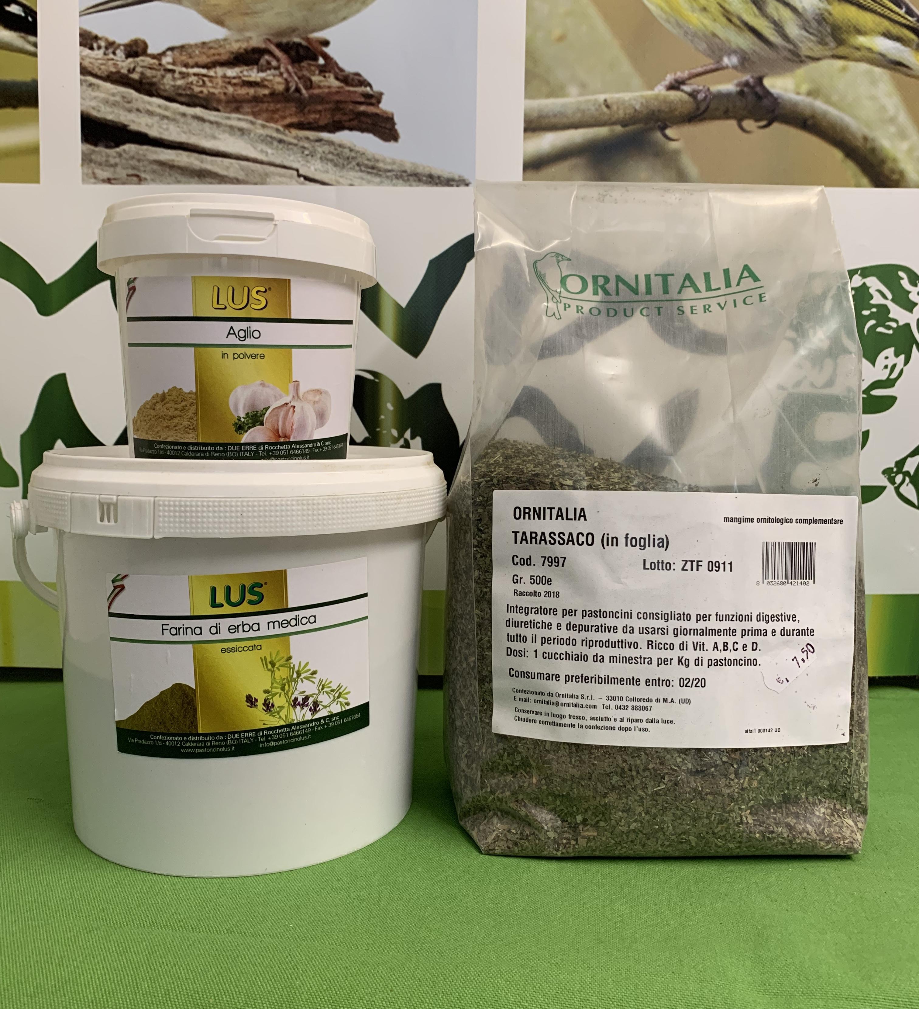 OFFERTA FARINA DI ERBA MEDICA 1kg + AGLIO 200g + TARASSACO 600g