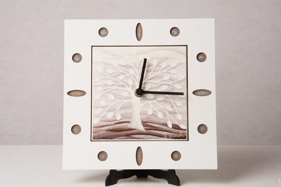 Cartapietra Orologio Albero della Vita 22x22 cm