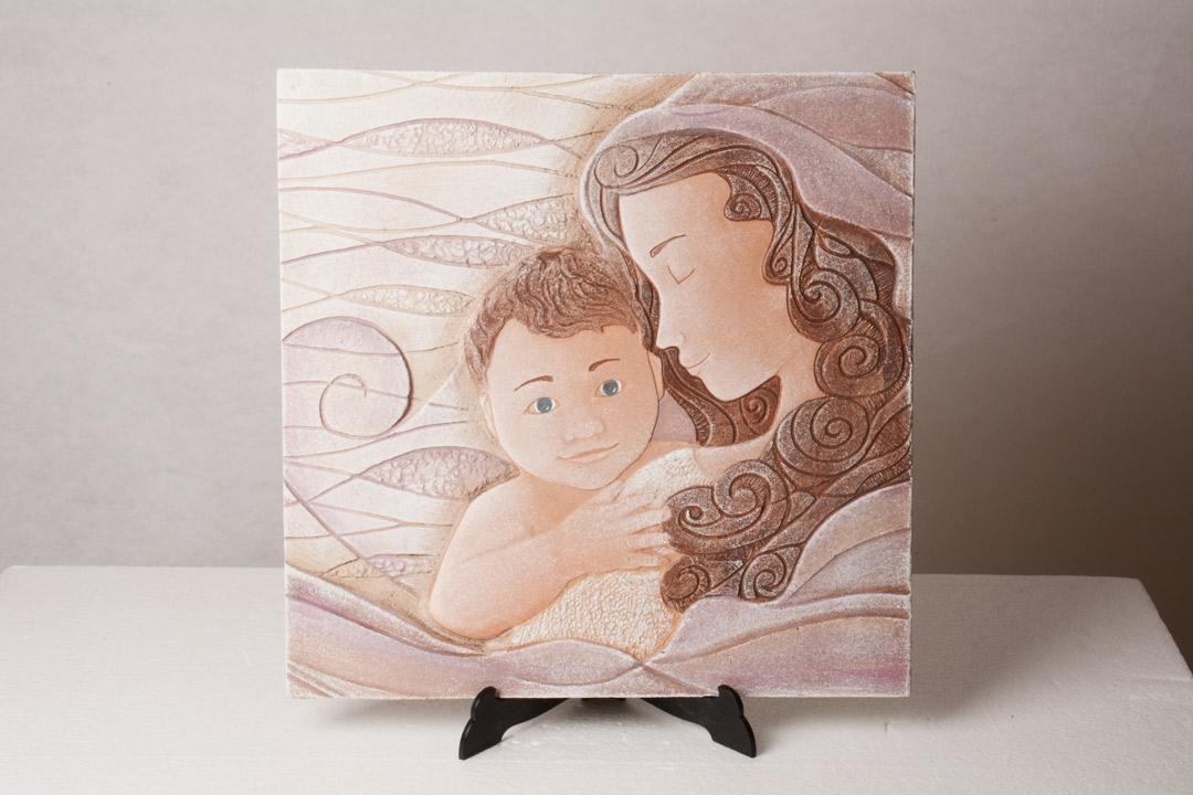 Cartapietra Quadro Madonna con Bambino 40x39