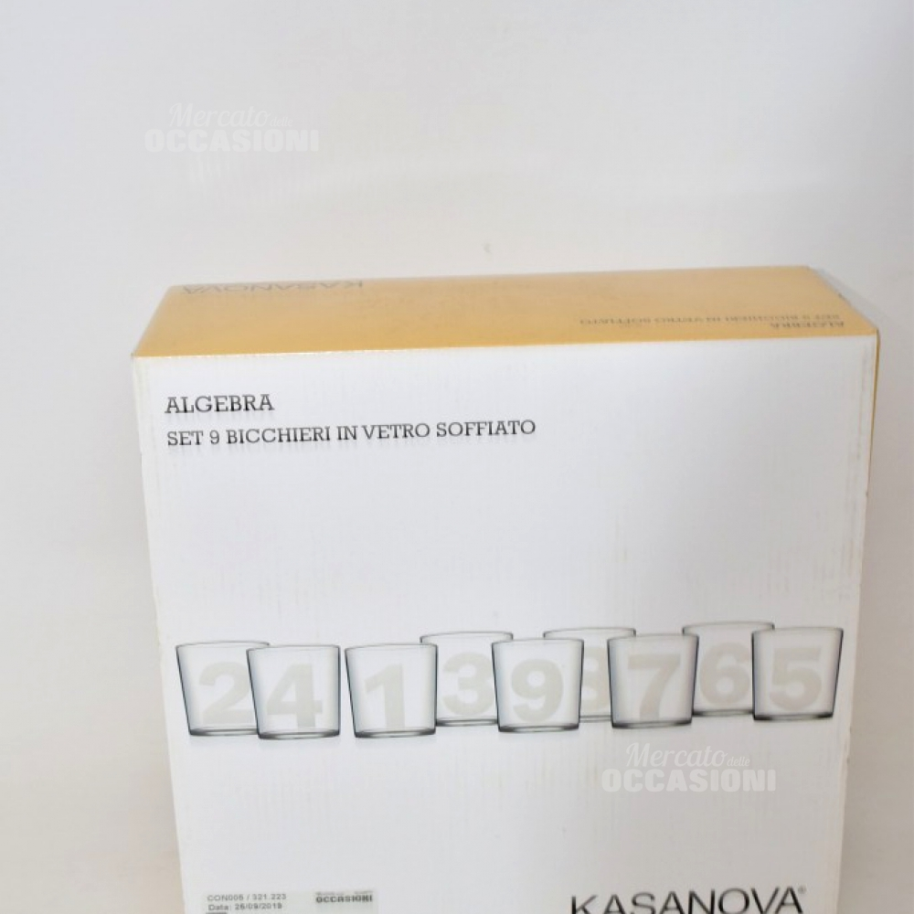 9 Bicchieri Kasanova Numerati
