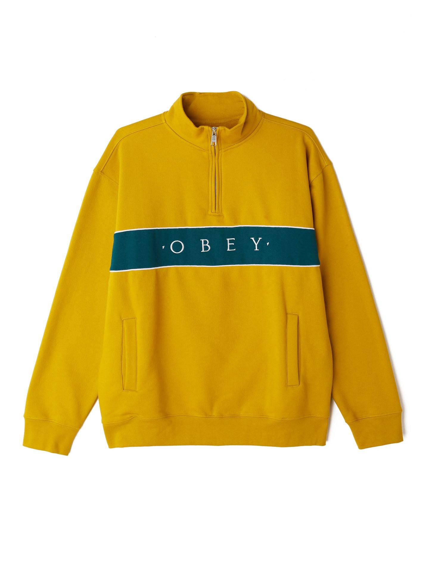 Felpa Obey Deal Mock Neck Yellow