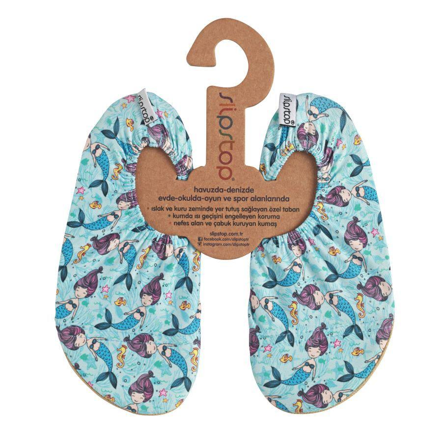 Slipstop - super scarpina antiscivolo per bambini - Sirenette celesti