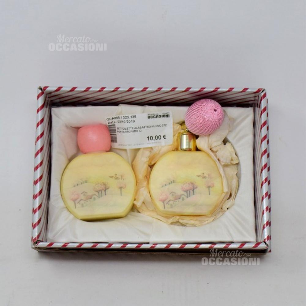 Set Toilette Alabastro 2pz Portaprofumo