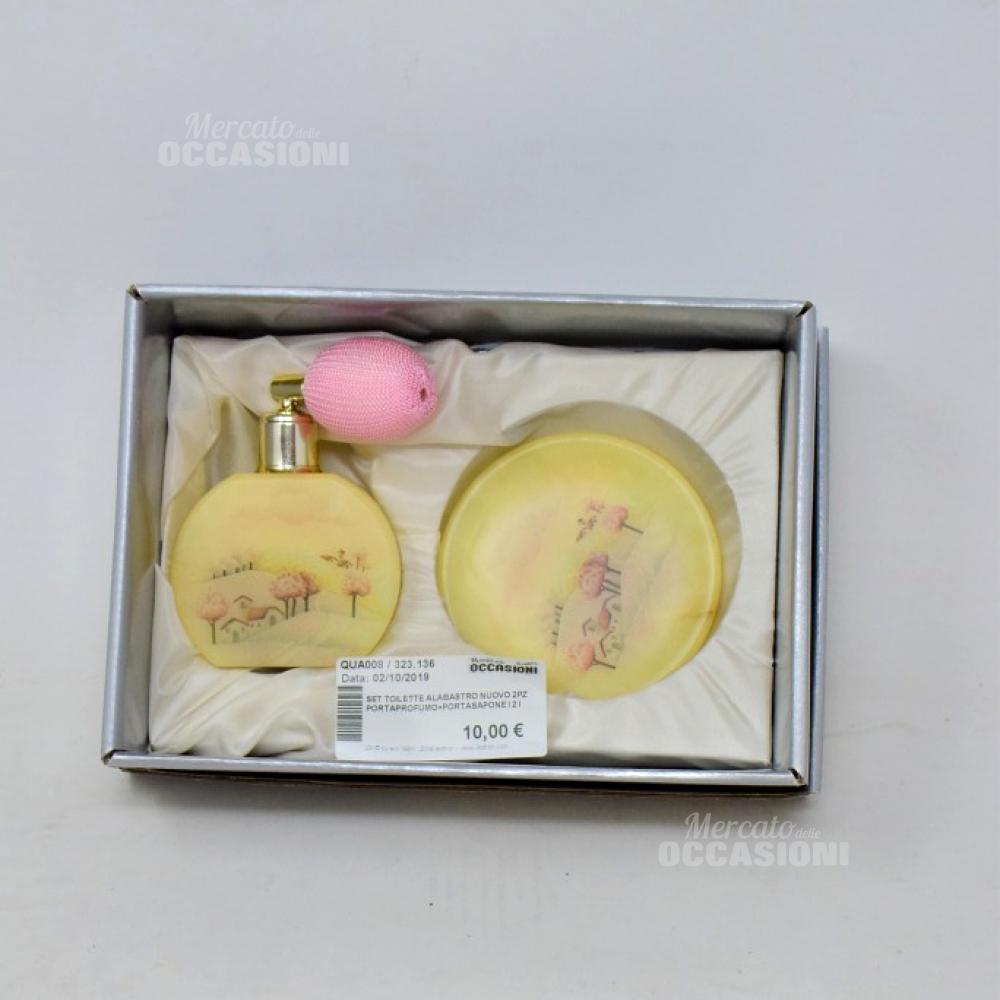 Set Toilette Alabastro 2pz Portaprofumo+portasapone I