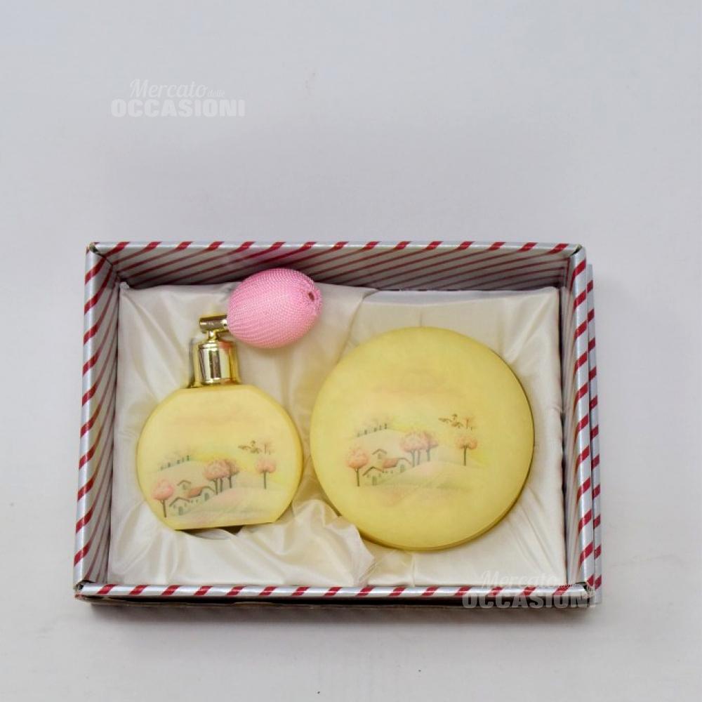 Set Toilette Albastro 2pz Portaprofumo+portagioie