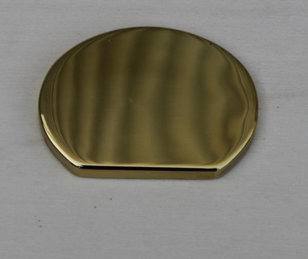 Finale Per Corrimano Sagoma Ovale Ottone Lucido art. 91 - mm 55 x 40 (Prezzo Per Pz. 2)