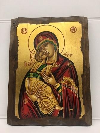 Icona greca Madonna con Bambino serigrafata