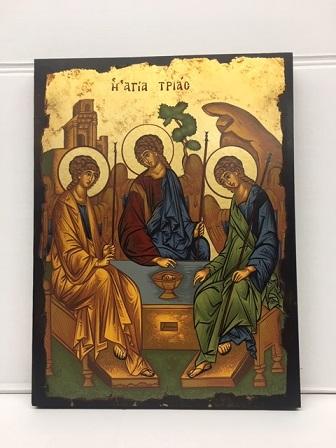 Icona greca Trinità serigrafata