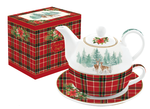 EASY LIFE TEA FOR ONE/EGOISTE IN PORCELLANA IN SCATOLA REGALO LINEA WINTER FOREST 104#WIFO