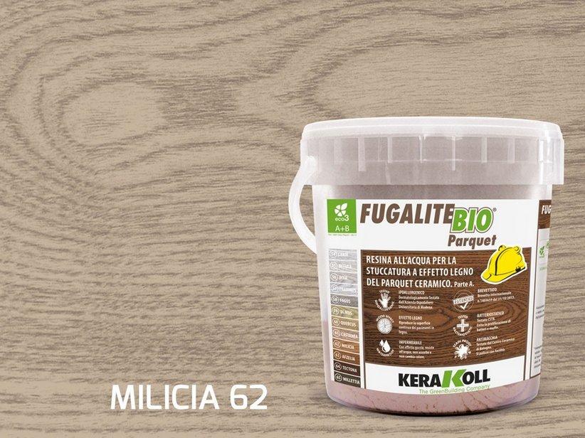 Kerakoll fugalite bio parquet  stucco effetto legno milicia kg3