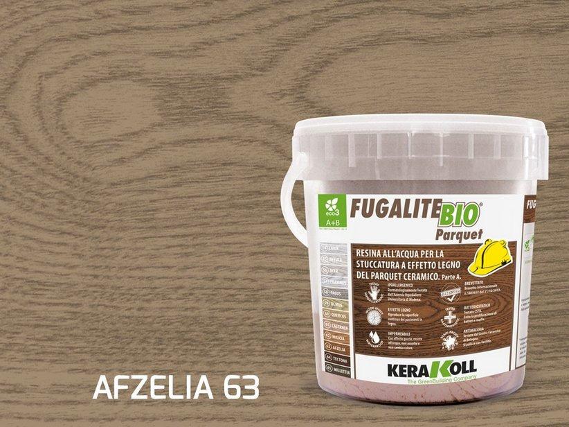 Kerakoll fugalite bio parquet stucco effetto legno afzelia kg3