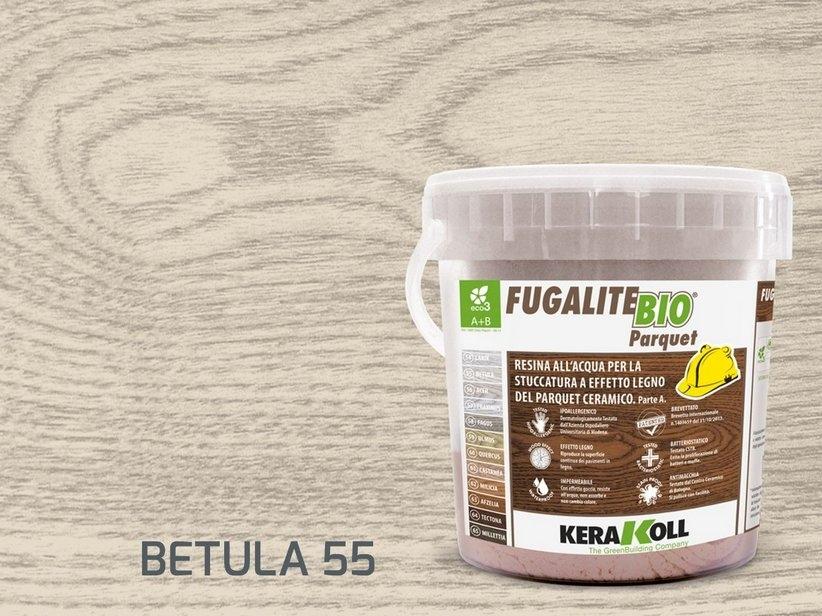 Kerakoll fugalite bio parquet stucco effetto legno betula kg3