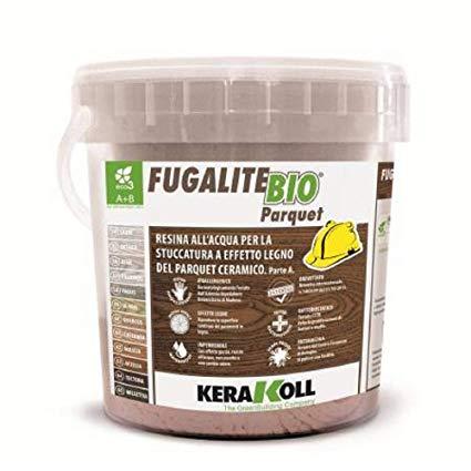 Kerakoll fugalite bio parquet stucco effetto legno castanea kg3