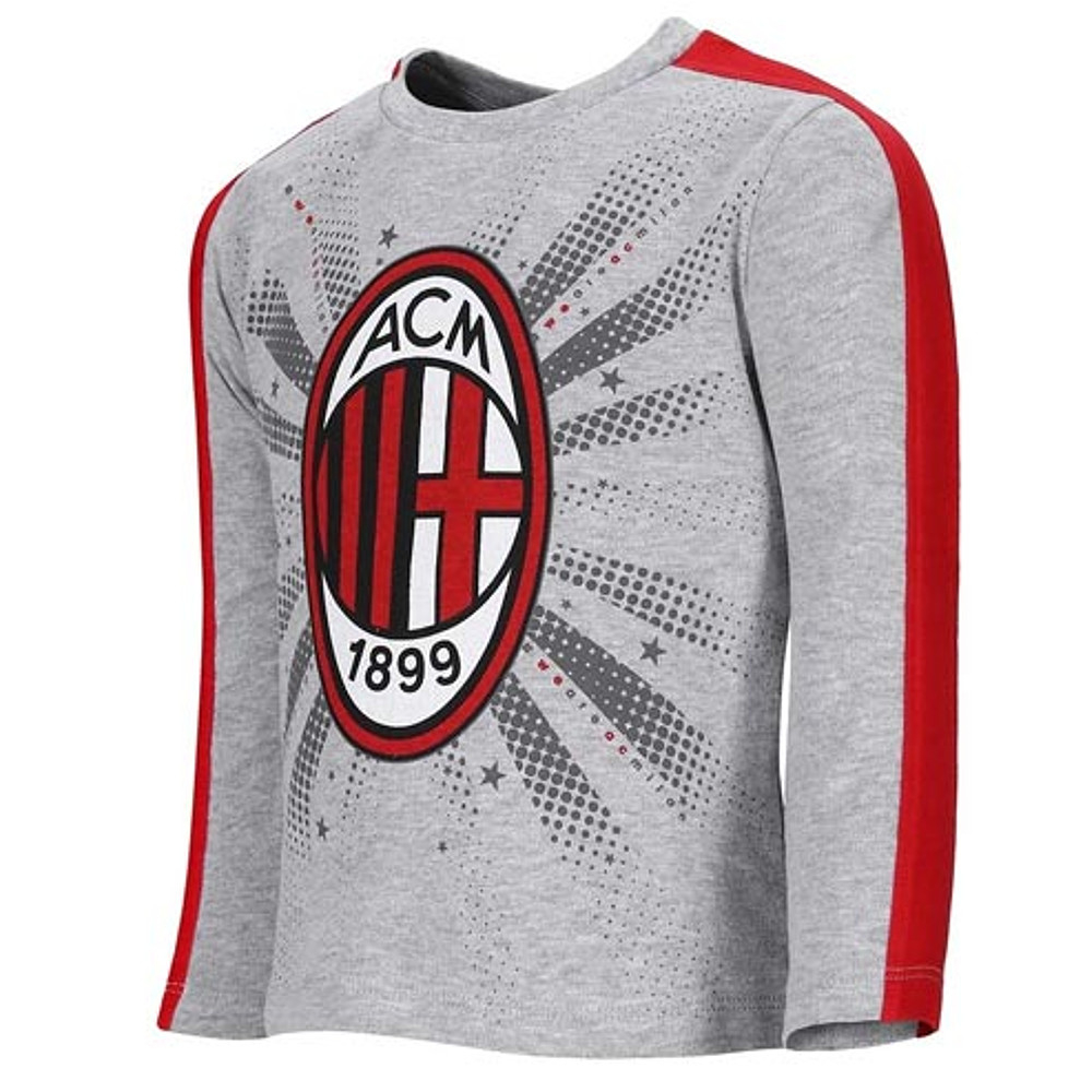 Maglietta taglia 12 18 24 mesi Milan stemma manica lunga