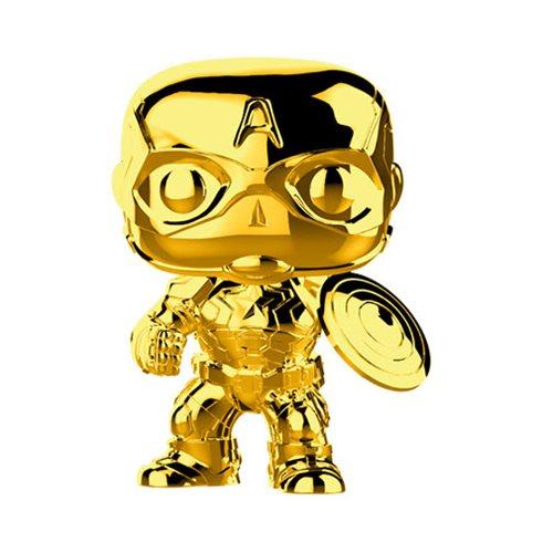 FUNKO POP! Marvel Studios: The First Ten Years Gold Chrome CAPTAIN AMERICA