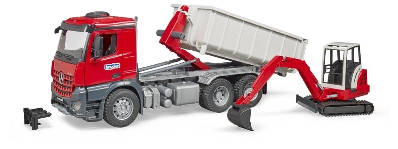 BRUDER MB ACROS TRUCK ROLL-OFF-CONTAINER 03624 BRUDER