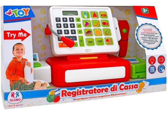 REGISTRATORE CASSA B/O C/CALCOL/SCANNER/ACC TRY-ME 39516 GLOBO