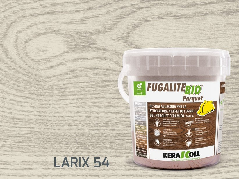 Kerakoll fugalite bio parquet stucco effetto legno larix kg3
