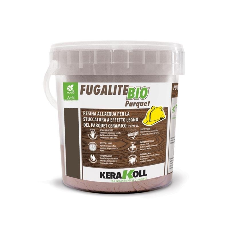 Kerakoll fugalite bio parquet stucco effetto legno tectona kg3