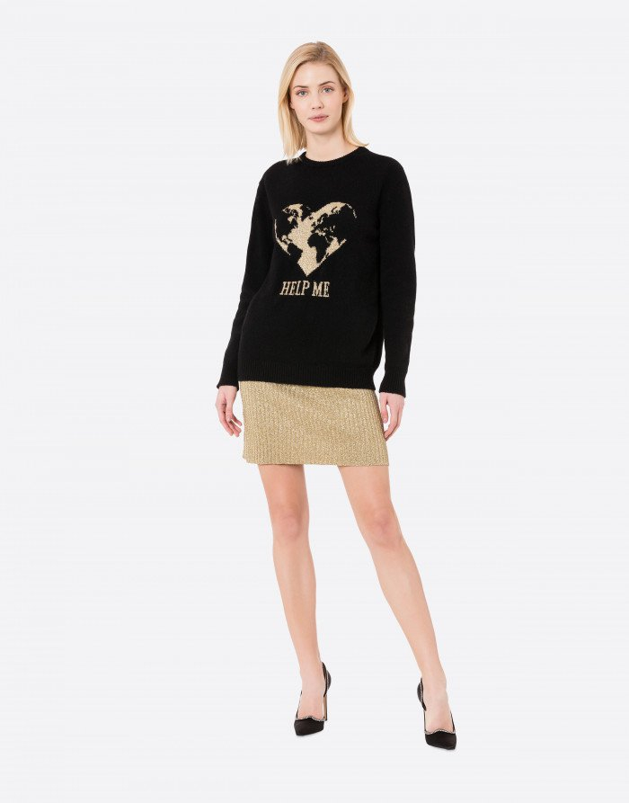 Pullover Help Me nero