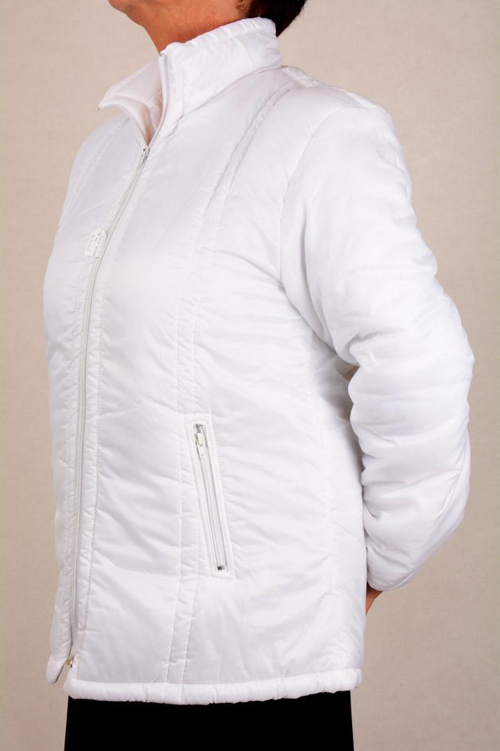 Giacca a Vento per Suora Colore Bianco Imbottita