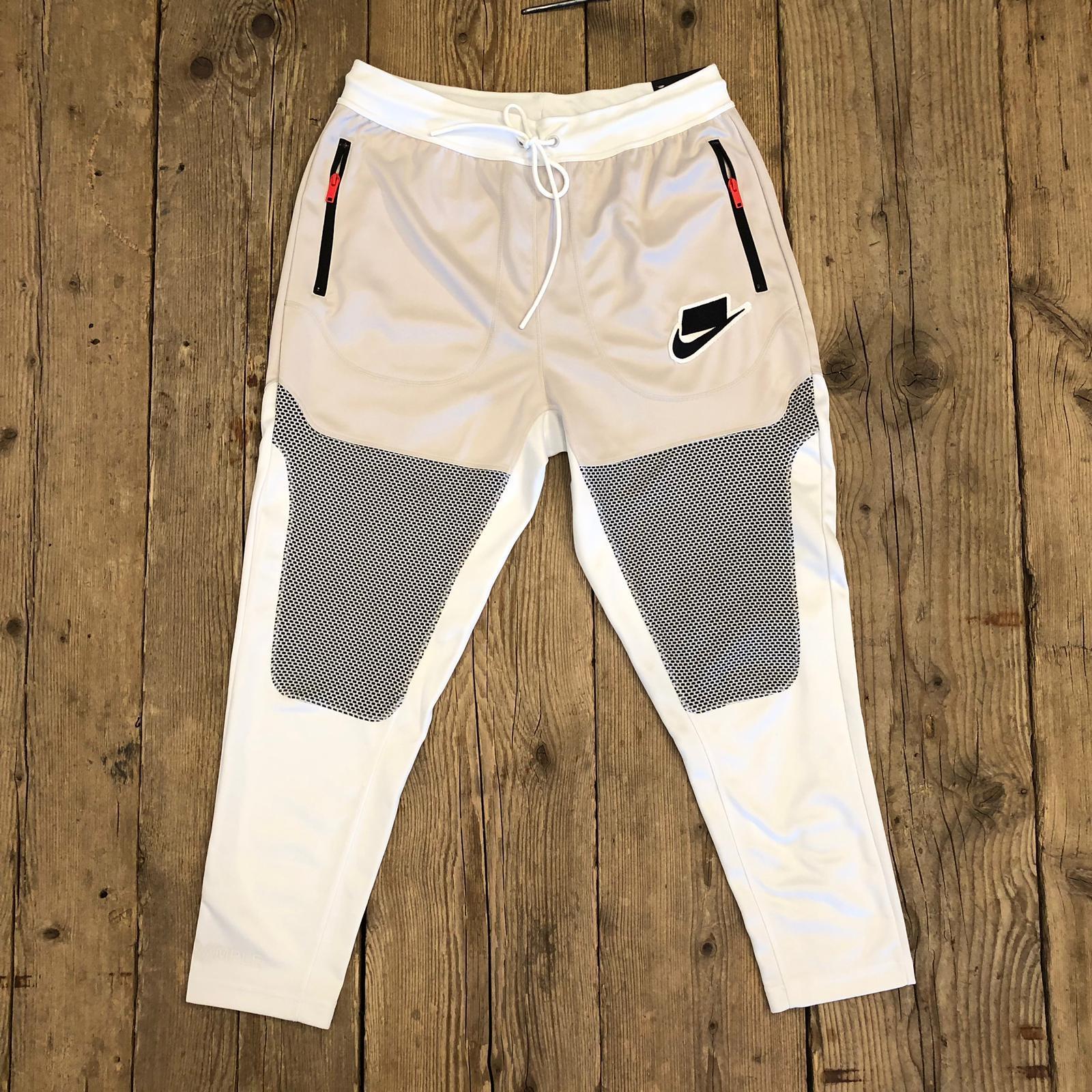 Pantalone Nike Sportswear NSW Bianco Con Inserti Neri