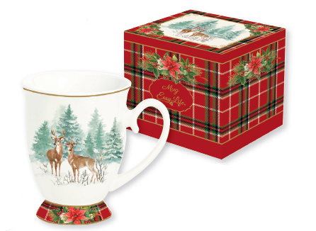 MUG IN PORCELLANA IN SCATOLA REGALO LINEA WINTER FOREST 1456 WIFO