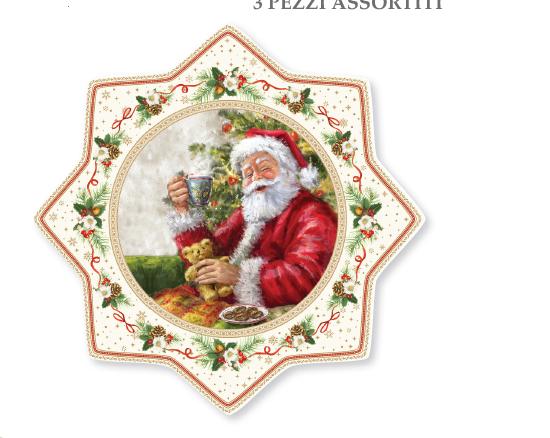EASY LIFE PIATTO TORTA IN PORCELLANA DIAMETRO CM. 32 LINEA CHRISTMAS TIME R2070#CHTR