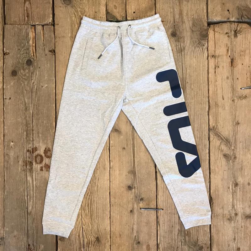 Pantalone Fila Classic Grigio con Logo Laterale Blu