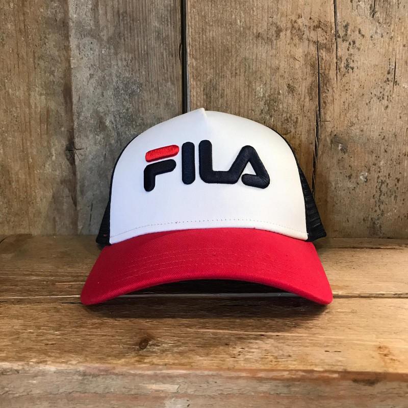 Cappellino Fila Trucker Cap Snap BAck Nero e Rosso