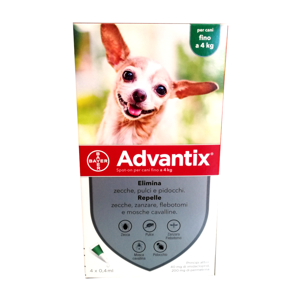 ADVANTIX CANI fino a 4 kg - ANTIPARASSITARIO SPOT-ON