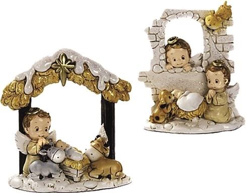 Angioletto con Gesù Bambino cm. 6,5