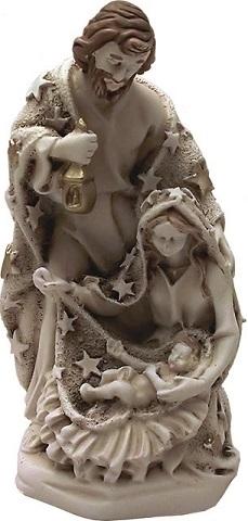 Natività in resina avorio blocco unico cm. 9,5