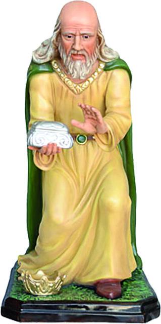 Re Magio Bianco in ginocchio - presepio cm. 100
