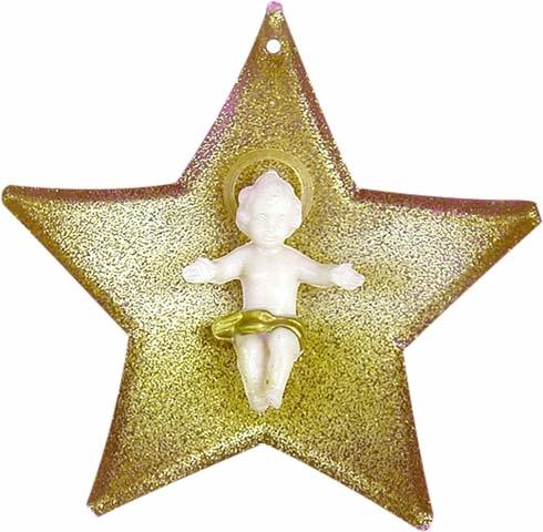 Stella con Gesù Bambino in plastica