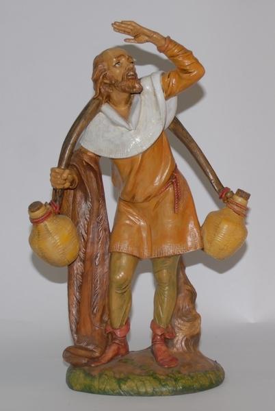 Pastore con anfore sulle spalle cm. 30