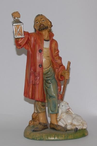 Pastore con lanterna cm. 30