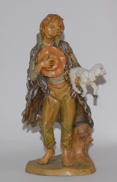 Pastore con pecora e cappello cm. 30