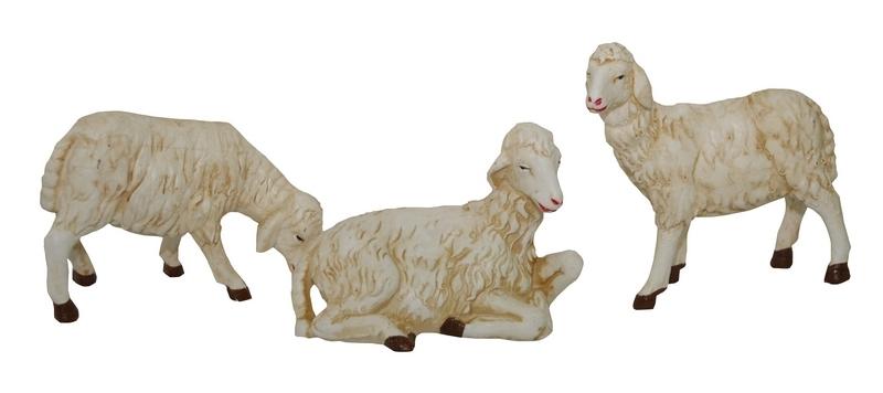 Busta 3 pecore in plastica cm. 45